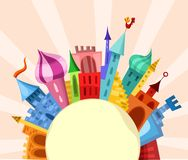 City card. Vector illustration of a city card Royalty Free Stock Photography