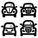 City cars. Vector icons of small stylish city cars Stock Images