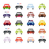 City cars in color Royalty Free Stock Images