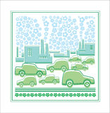 The city and cars, ecology Royalty Free Stock Photography
