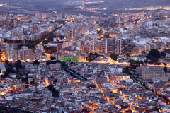 City of Cartagena at night. Spain Royalty Free Stock Photo