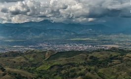 The city of Cartago, Valle del Cauca, Colombia. The city of Cartago, Valle del Cauca, Colombia, before the storm royalty free stock photo