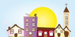City cartoon Royalty Free Stock Image