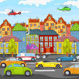 City Cartoon. Royalty Free Stock Image