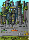 City Cartoon Stock Photo