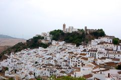 City of Casares. View of the city of Casares, Andalusia, Spain Stock Images