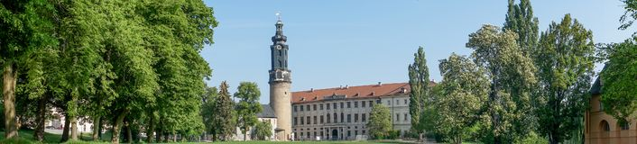 City castle in Weimar. City castle with tower in Weimar in Germany royalty free stock images