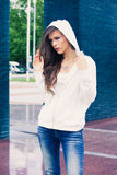 City casual fashion girl Royalty Free Stock Images
