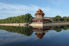 City categories: Beijing Forbidden City turret stock photo