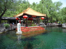 City categories: Jinan Baotu Mission Hills Pavilion. Eastphoto, tukuchina,  City categories: Jinan Baotu Mission Hills Pavilion Stock Images