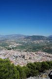 City and Cathedral, Jaen, Spain. Royalty Free Stock Photo