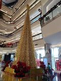 Christmas tree in the Mall. City, celebration, religion Royalty Free Stock Images
