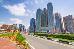 City center of Abu Dhabi, UAE Royalty Free Stock Image