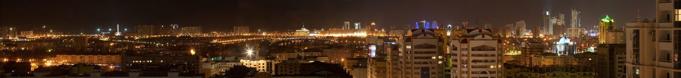 The city center of Astana (panorama) Royalty Free Stock Photos