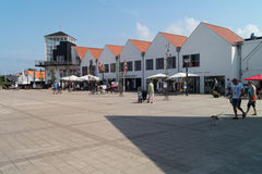 City center of Blokhus Stock Photography