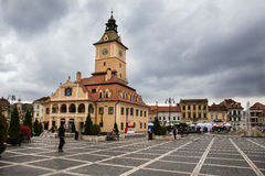 City center brasov. Fall in Brasov Council Square stock image