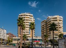 City center central of Vlore in coastal Albania Albania stock photography