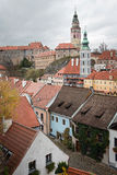 City center of Cesky Krumlov, Czech Republic Stock Image