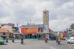City center, Da Lat, Vietnam. Đà Lạt or Dalat (pop. 206,105 as of 2009, of which 185,509 are urban inhabitants, is the capital of Lâm Đồng Province in Royalty Free Stock Image