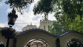 Art nouveau castle stock photos