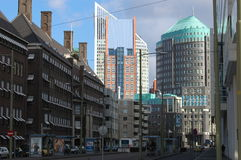 City center of Den Haag. In Holland (the Netherlands). Photo showing the architecture of the Dutch capital Stock Images