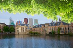 City center of Den Haag, Netherlands Stock Images