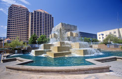 City center of downtown Albuquerque, NM Royalty Free Stock Images