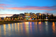 The city center in evening twilight. Dalat Stock Images