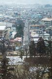City center at february 28, 2014 in Fukushima, Japan Royalty Free Stock Image