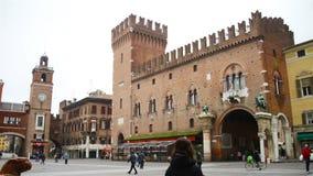 City center of Ferrara, Italy stock video