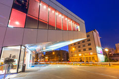 City center of Gdynia at night, Poland. Stock Photography