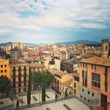 City center of Girona, Catalonia Stock Photo