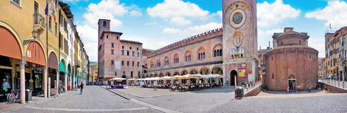 City center of the historic town of Mantua in Lombardy, Italy.  Royalty Free Stock Photos