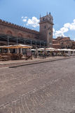 City center of the historic town in Mantua Stock Photos