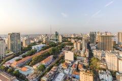 City center. Of  Ho Chi Minh city. Ho Chi Minh City has the most dynamic economy in Vietnam Stock Photo