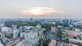 City center. Of  Ho Chi Minh city. Ho Chi Minh City has the most dynamic economy in Vietnam Royalty Free Stock Photography