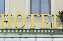 City Center Hotel Sign Royalty Free Stock Photo