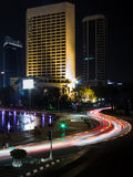 City Center of Jakarta at Night Royalty Free Stock Photography