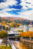 City center in Karlovy Vary. Czech Republic stock photography