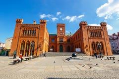 City center of Kolobrzeg with neo gothic building of City Hall, West Pomerania, Poland Stock Photos