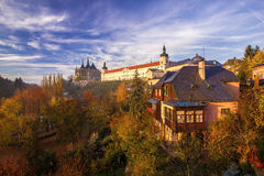 City center of Kutna Hora in Fall Stock Photography