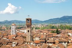 City center of Lucca Royalty Free Stock Photography