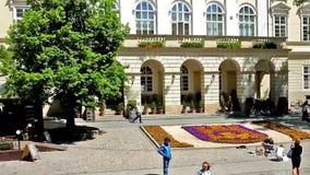 City Center Of Lvov, Ukraine stock footage