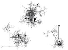 City / Center map. On a white background Royalty Free Stock Photos