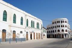City center of massawa eritrea. City center street in massawa eritrea with ottoman architecture Royalty Free Stock Images