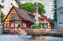 City center of Meersburg, Constance lake Royalty Free Stock Photos