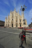 City center of Milan - Cathedral of Milano Royalty Free Stock Photography