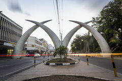 City center of Mombasa, Kenya. East Africa Stock Images