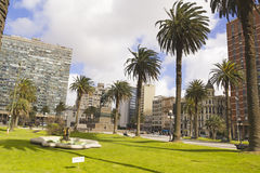 The city center of Montevideo, Uruguay Royalty Free Stock Photo
