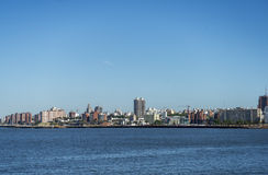 City center of Montevideo. View of the city center of Montevideo and the Río de la Plata Stock Photo
